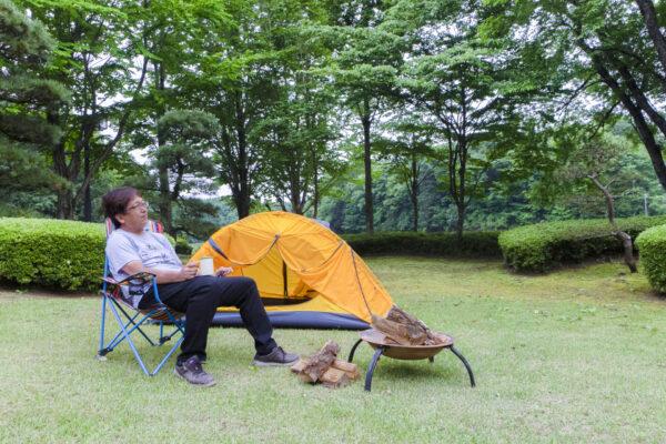 ソロキャンプスペースのご案内。